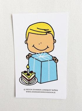 Minikort - Födelsedagskille