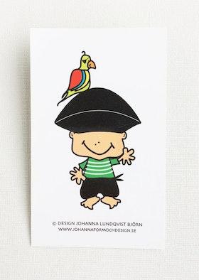 Minikort - Pirat