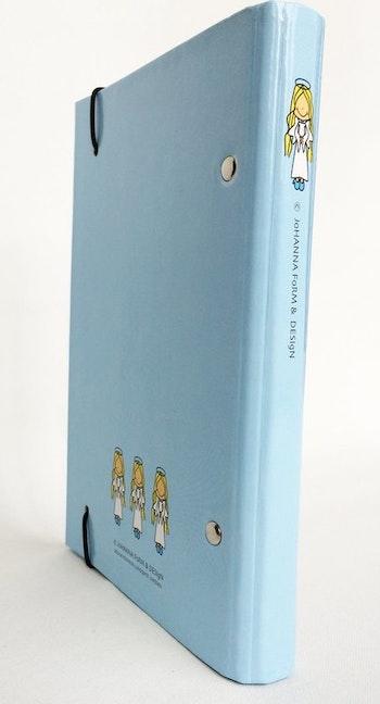 Liten pärm till almanacka/adressbok - Ängel