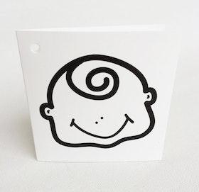 Litet kvadratiskt kort - Pojke
