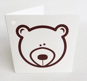 Litet kvadratiskt kort - Björn