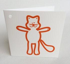 Litet kvadratiskt kort - Katt