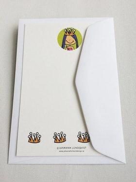 Brevkort med kuvert - Prinsessa