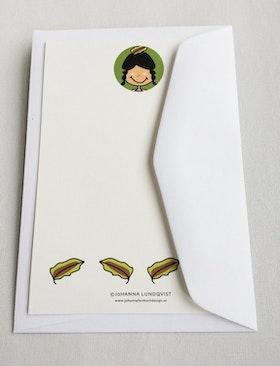 Brevkort med kuvert - Indian