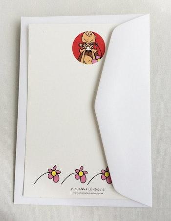 Brevkort med kuvert - Mamma och baby