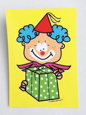 Vykort - Clown