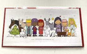 Kalenderkort Julkrubba