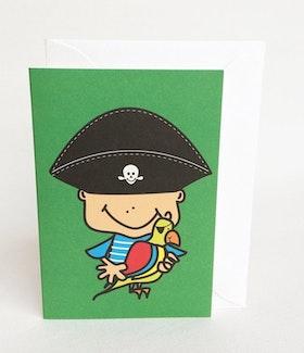 Litet kort med kuvert - Pirat