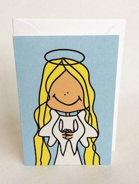 Litet kort med kuvert - Ängel
