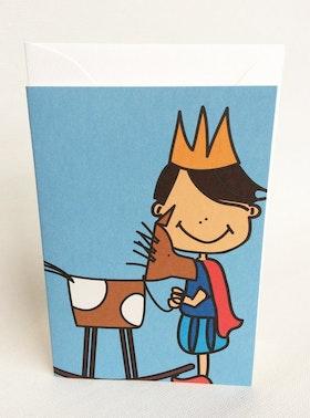 Litet kort med kuvert - Prins