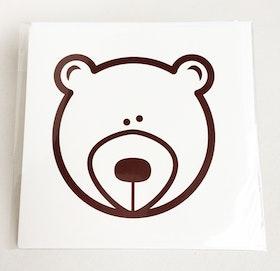 Kvadratiskt kort med kuvert - Björn
