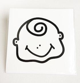 Kvadratiskt kort med kuvert - Pojke