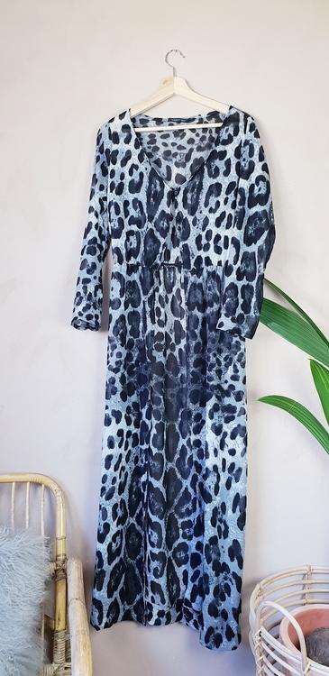 Leopard kaftan storlek onesize