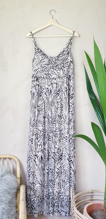 H&M rosamönstrad klänning storlek medium