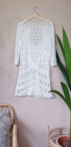 Virkad klänning storlek medium