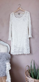 H&M virkad klänning storlek Large