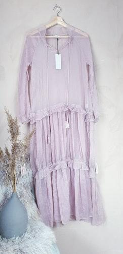 Rosa tunn långklänning storlek S/M