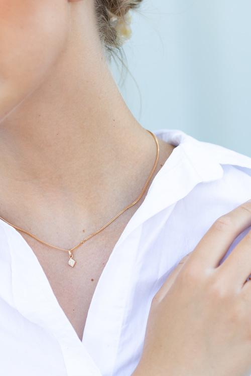 Freja hängsmycke guld - diamant