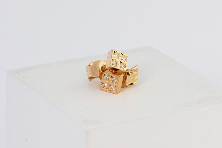 Freja örhängen guld - diamant