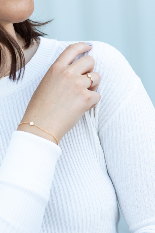 Freja armband guld - diamant