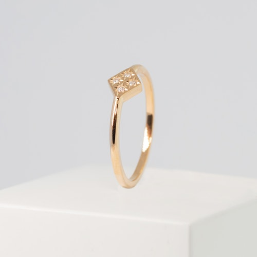 Freja ring guld - diamant