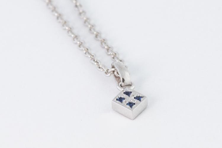 Freja hängsmycke silver - blå safir