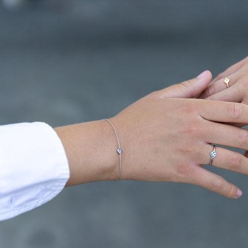 Freja ring silver - blå safir