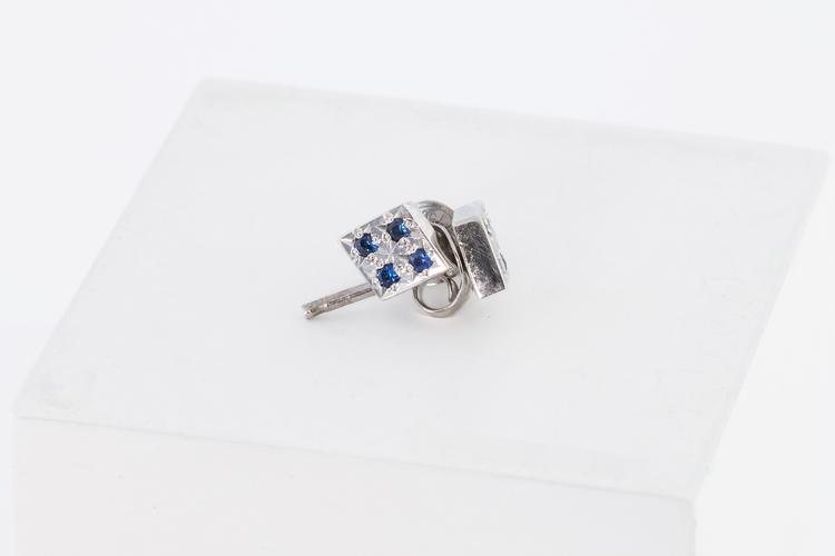 Freja örhängen  silver/blå safir