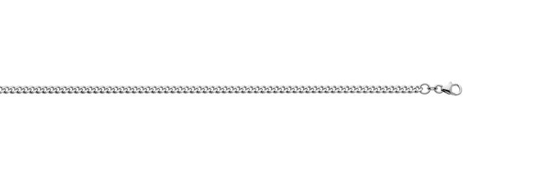 Pansarkedja 45 cm - vitguld