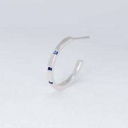 Liv örhängen silver - blå safir