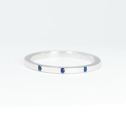 Liv ring i silver - blå safir