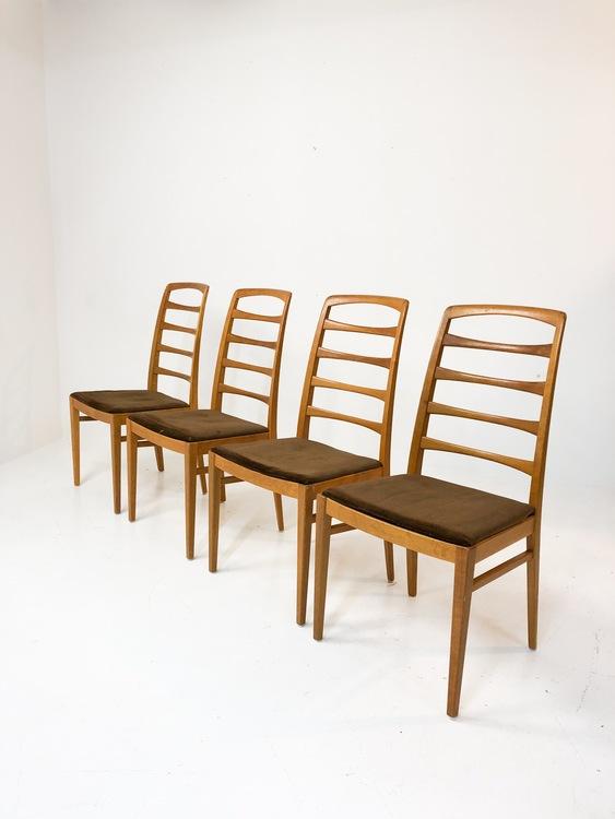 Bodafors stolar i ek 60-tal 4 st