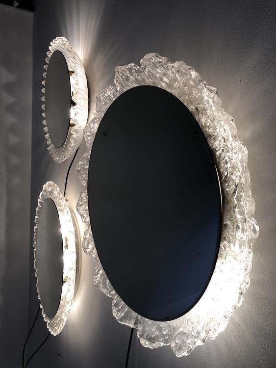 Spegel med belysning Tyskland 70-tal