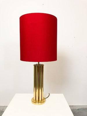 Bordslampa mässing 70-tal