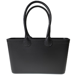 Sweden Bag Black - Large, with long leather handles 55101-1