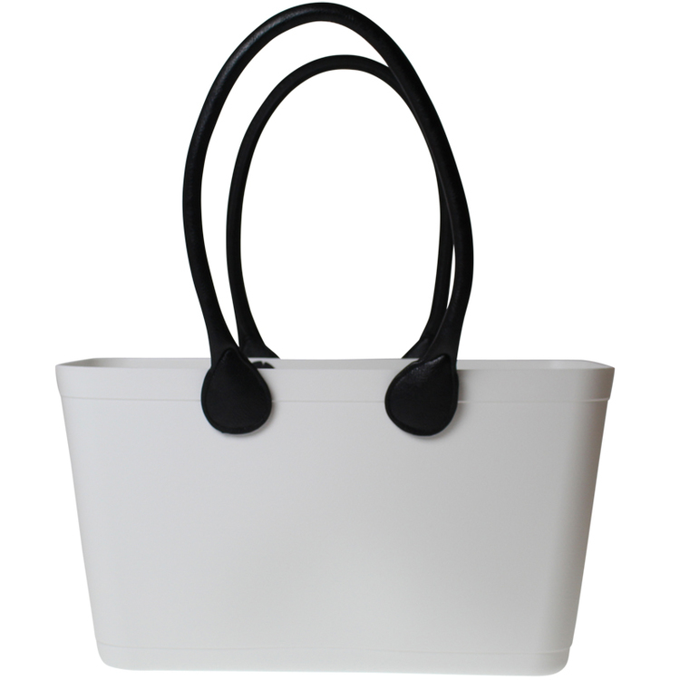 Sweden Bag White - Large, with long leather handles 55108-1