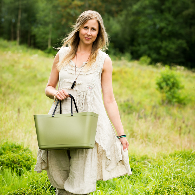 NY Väska Sand Sweden Bag - Stor - Green Plastic 55124