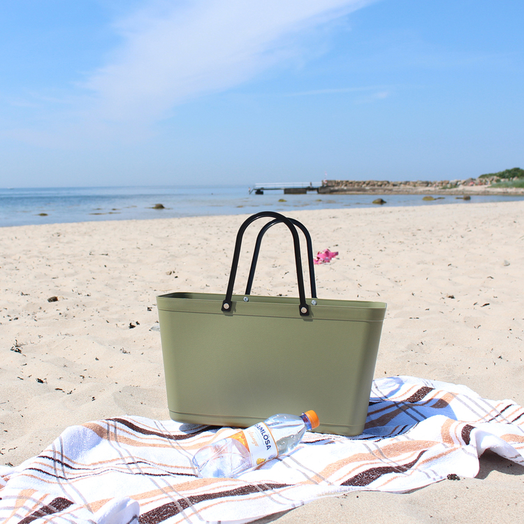 Väska Naturgrön Sweden Bag - Stor - Green Plastic 55119