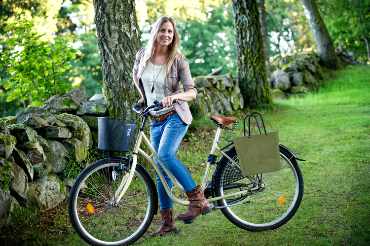 Bicycle Basket Perstorp - Nature Green 55318