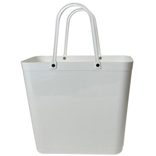NY Väska Vit - Cityshopper - Perstorp Design 55408 med vita handtag