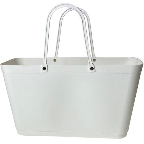 NY Väska Vit - Sweden Bag - Stor 55108 med vita handtag