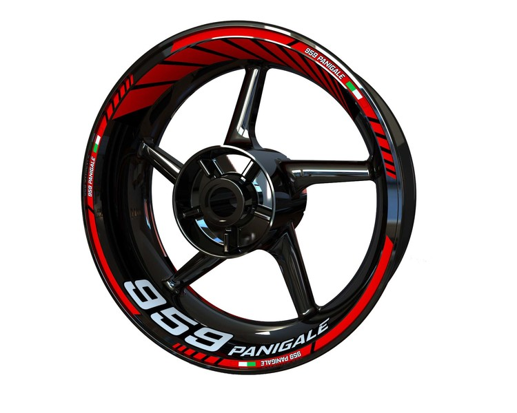 Ducati 959 Panigale Wheel Stickers Standard (Front & Rear - Both Sides Included)