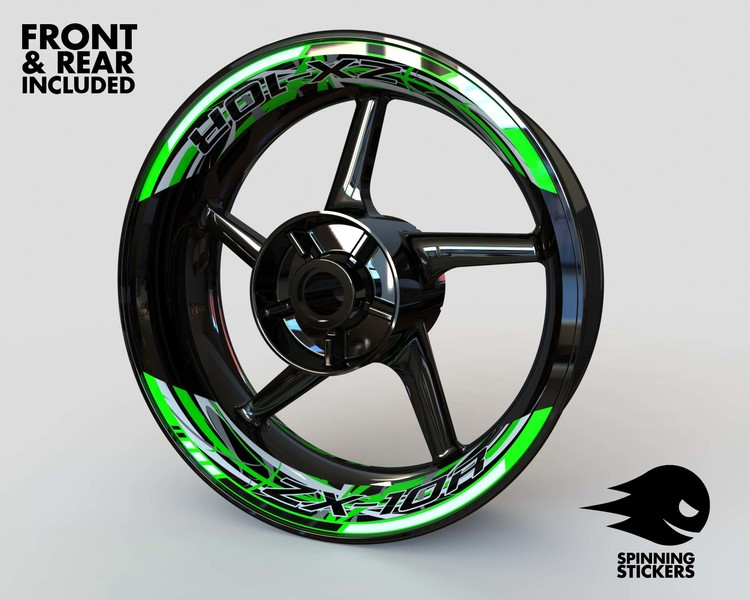 Rim Stickers 2-piece - Kawasaki ZX-10R