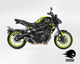"Yamaha MT-09 Graphic Kit ""Organized chaos"" 2017-2019 (Multiple colors)"