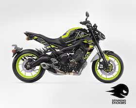 "Yamaha MT-09 Graphic Kit ""Organized chaos"" 2017-2019"