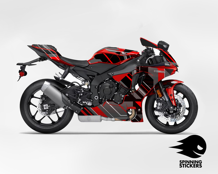 """Yamaha R1 Graphic Kit """"Organized chaos"""" 2015-2019 (Multiple colors)"""