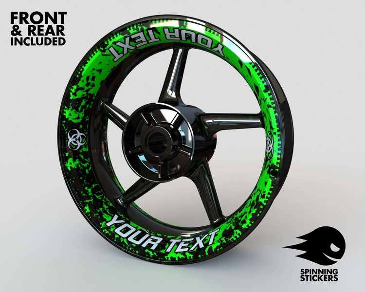 Rim Stickers Premium - Biohazard - Your Text