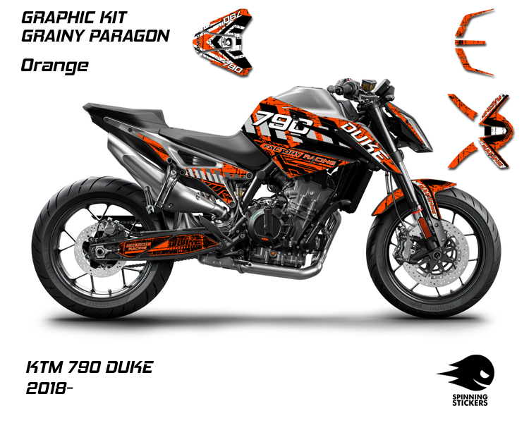 "KTM 790 DUKE Graphic Kit ""Grainy Paragon"" 2018-2020"