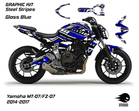 "Yamaha MT-07 Graphic Kit ""Steel Stripes"" 2014-2017"
