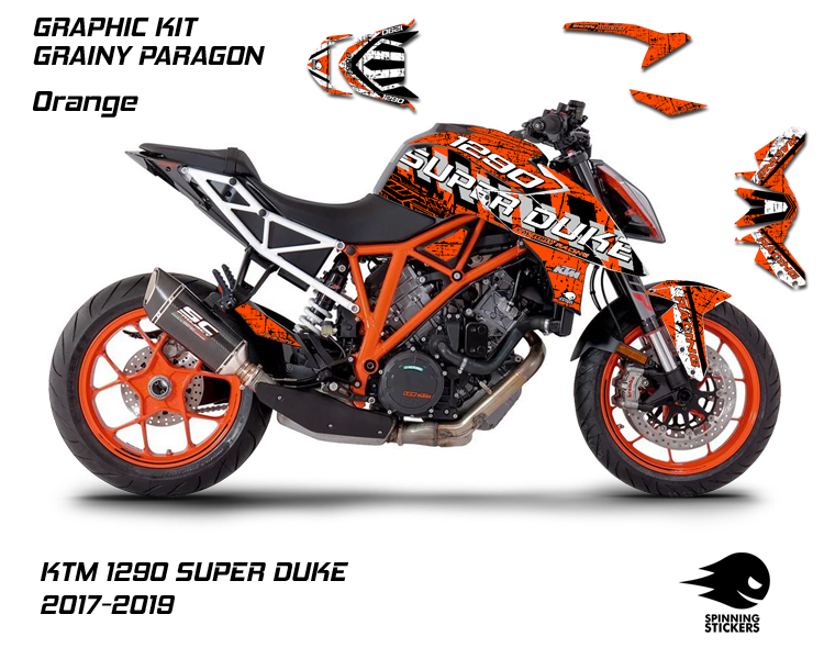 "KTM 1290 SUPER DUKE R Graphic Kit ""Grainy Paragon"" 2017-2019"